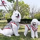 זול אביזרים ובגדים לכלבים-חתול כלב טי שירט בגדים לכלבים פס שחור כותנה תחפושות עבור חיות מחמד בגדי ריקוד גברים בגדי ריקוד נשים יום יומי\קז'ואל
