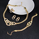 cheap Hair Jewelry-Women's Cubic Zirconia Jewelry Set - Cubic Zirconia Statement, Vintage, Party Include Earrings Bracelet Gold For Wedding Party Special Occasion / Rings / Necklace / Bracelets & Bangles