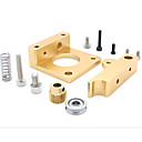 cheap Motherboards-MK8 Extruder Aluminum Block Makerbot Extrusion Head Aluminum Block for 3D Printer