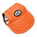 cheap Dog Clothing & Accessories-Cat Dog Bandanas & Hats Dog Clothes Solid Colored Orange Terylene Costume For Spring &  Fall Classic