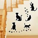 hesapli Dekorasyon Etiketleri-Dekoratif Duvar Çıkartmaları - Hayvan Duvar Çıkartmaları Hayvanlar / Romantizm / Moda Oturma Odası / Yatakodası / Banyo / Yıkanabilir