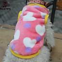 hesapli Köpek Giyim ve Aksesuarları-Kedi Köpek Tişört Köpek Giyimi Kalp Siyah Pembe Polar Kumaş Kostüm Evcil hayvanlar için Cosplay Düğün
