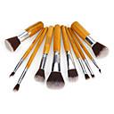 preiswerte Make-up & Nagelpflege-10 Stück Makeup Bürsten Professional Bürsten-Satz- Nylon Pinsel Umweltfreundlich