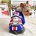 hesapli iPhone Stickerları-Kedi Köpek Svetşört Köpek Giyimi Karton Kırmzı Mavi Pamuk Kostüm Evcil hayvanlar için Erkek Kadın's Moda