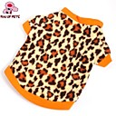 cheap Dog Clothing & Accessories-Cat Dog Shirt / T-Shirt Sweatshirt Dog Clothes Leopard Brown Polar Fleece Costume For Pets Men's Women's Fashion