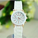 preiswerte Schmuck-Sets-Damen damas Armbanduhr Quartz Armbanduhren für den Alltag Silikon Band Analog Süßigkeit Freizeit Modisch Weiß / Blau / Orange - Rot Grün Blau