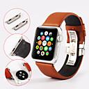 hesapli Acil Durum ve Hayatta Kalma-Watch Band için Apple Watch Series 3 / 2 / 1 Apple kelebek Toka Gerçek Deri Bilek Askısı