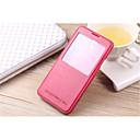 hesapli Galaxy Note Serisi Kılıfları / Kapakları-Pouzdro Uyumluluk Samsung Galaxy Samsung Galaxy Note7 Satandlı Pencereli Tam Kaplama Kılıf Tek Renk PU Deri için Note 7 Note 5 Edge Note
