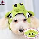 cheap Car Headlights-Cat Dog Costume Outfits Bandanas & Hats Dog Clothes Green Polar Fleece Costume For Winter Cosplay Wedding Halloween