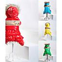 رخيصةأون ملابس وإكسسوارات الكلاب-قط كلب المعاطف هوديس حللا ملابس الكلاب ألوان متناوبة أحمر أخضر أزرق قطن كوستيوم من أجل ربيع & الصيف الشتاء رجالي نسائي الدفء موضة