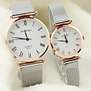 Buy Couple's Round Dial Alloy Band Lovers' Quartz Analog Wrist Watch Cool Watches Unique Fashion Strap