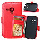 billige Billadere-Etui Til Samsung Galaxy S5 Mini / S4 Mini / S4 Lommebok / Kortholder / med stativ Heldekkende etui Ensfarget PU Leather