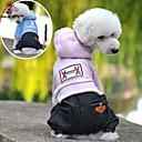 hesapli iPhone Yedek Parçaları-Köpek Kapüşonlu Giyecekler Tulumlar Köpek Giyimi Kotlar Koyu Mavi Pembe Açık Mavi Polar Kumaş Pamuk Kostüm Evcil hayvanlar için Erkek