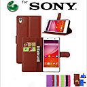 Buy Sony Case / Xperia Z5 Card Holder Wallet Stand Flip Full Body Solid Color Hard PU Leather SonySony