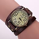 hesapli Kadın Saatleri-Kadın's Bilezik Saat Gündelik Saatler Deri Bant Vintage / Moda Siyah / Beyaz / Mavi