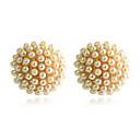 olcso Divat nyaklánc-Női Beszúrós fülbevalók Seed Pearls hölgyek Gyöngy Arannyal bevont Fülbevaló Ékszerek Aranyozott Kompatibilitás Parti Napi Hétköznapi