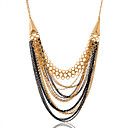 cheap Necklaces-Women's Statement Necklace wrap necklace White Black Necklace Jewelry For Party Daily Casual