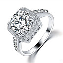 preiswerte Ringe-Damen Statement-Ring - Zirkon, Kubikzirkonia, Aleación Modisch 6 / 7 / 8 / 9 Silber / Golden Für Hochzeit Party Alltag