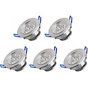 cheap LED Recessed Lights-5pcs 3 W 350 lm 3 LED Beads High Power LED Warm White / Cold White 100-240 V / 5 pcs / RoHS