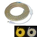 Χαμηλού Κόστους Ρούχα και αξεσουάρ για σκύλους-JIAWEN 5m Ευέλικτες LED Φωτολωρίδες 300 LEDs 5050 SMD Θερμό Λευκό / Άσπρο Αδιάβροχη / Μπορεί να κοπεί / Διακοσμητικό 220-240 V 1pc / IP65