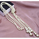 Buy Women's Strands Necklaces Pearl Necklace Imitation Alloy Fashion Multi Layer Costume Jewelry Wedding Party Daily