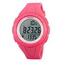 저렴한 여성용 시계-SKMEI 여성용 스포츠 시계 / 디지털 시계 알람 / 달력 / 크로노그래프 고무 밴드 패션 / 우아함 블랙 / 블루 / 그린 / 방수 / LCD / 2 년 / Maxell626 + 2025