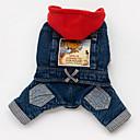abordables Vêtements & Accessoires pour Chien-Chien Pulls à capuche Vestes en Jean Vêtements pour Chien Jeans Bleu Coton Costume Pour les animaux domestiques Homme Femme cow-boy