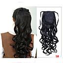 Χαμηλού Κόστους Μακιγιάζ και περιποίηση νυχιών-Cross Type Κυματιστό Αλογορουρές Κομμάτι μαλλιών Hair Extension 20 Ίντσες Κατάμαυρο Σκούρο Καφέ