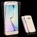 رخيصةأون إكسسوارات سامسونج-غطاء من أجل Samsung Galaxy S6 edge plus / S6 edge / S6 شفاف غطاء كامل للجسم لون سادة TPU