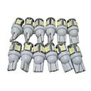 preiswerte Auto Nebelscheinwerfer-12 Stück T10 Auto Leuchtbirnen 2.5W SMD 5050 90lm 5 LED Außenleuchten