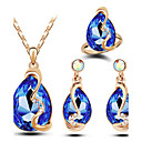 cheap Rings-Women's Crystal Jewelry Set - Austria Crystal Drop Luxury, Fashion Include Blue / Pink / Light Blue For Christmas Gifts Wedding Party / Rings / Earrings / Necklace