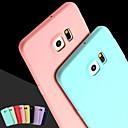 hesapli LG İçin Ekran Koruyucuları-Pouzdro Uyumluluk Samsung Galaxy Samsung Galaxy Kılıf Other Arka Kapak Solid Silikon için S6 edge plus / S6 edge / S6