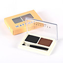 preiswerte Make-up & Nagelpflege-2 Farben Augenbrauen Puder 1 pcs Trocken / Kombination / Ölig Wasserdicht / Lang anhaltend / Natürlich Auge Bilden Kosmetikum