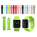 abordables Bracelets Apple Watch-Bracelet de Montre  pour Apple Watch Series 3 / 2 / 1 Apple Bracelet Sport Silikon Sangle de Poignet