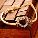 ieftine Brățări-Pentru femei Brățări cu Lanț & Legături Inimă Iubire Hollow Heart femei Lux Design Unic Petrecere Modă Zirconiu Cubic Bijuterii brățară Auriu Pentru Petrecere Cadou aleasă a inimii