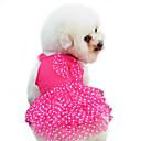 ieftine Imbracaminte & Accesorii Căței-Câine Rochii Îmbrăcăminte Câini Buline Nod Papion Rosu Albastru Roz Bumbac Costume Pentru Primăvara & toamnă Vară Pentru femei Modă