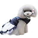 ieftine Imbracaminte & Accesorii Căței-Câine Rochii Îmbrăcăminte Câini Cristale / Strasuri Negru Bumbac Costume Pentru Primăvara & toamnă Vară Pentru femei Modă