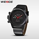 ieftine Ceasuri Bărbați-WEIDE Bărbați Ceas de Mână Quartz Piele Negru 30 m Rezistent la Apă Analog Charm - Negru Argintiu Rosu / Oțel inoxidabil