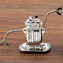 cheap Math Toys-Robot Hanging Tea Infuser Stainless Steel with Drip Tray Plate