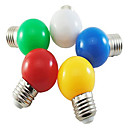 hesapli LED Küre Ampuller-1pc 1 W 80 lm E26 / E27 LED Küre Ampuller G45 8 LED Boncuklar SMD 2835 Dekorotif / Çok güzel Beyaz / Kırmızı / Mavi 220-240 V / 1 parça / RoHs