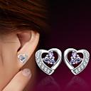 halpa Korvakorut-Naisten Niittikorvakorut - Sterling-hopea, Hopeanvärinen Heart Käyttötarkoitus Häät / Party / Päivittäin