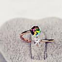 hesapli Yüzükler-Kadın's Bildiri Yüzüğü - Yapay Elmas, alaşım Moda 8 Çeşitli Renk Uyumluluk Günlük