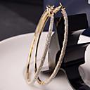 hesapli Fırın Araçları ve Gereçleri-Kadın's Halka Küpeler - Moda Gümüş / Altın Uyumluluk Düğün Parti Günlük