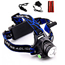 cheap DIY Parts and Tools-LS1791 Headlamps Headlight LED Cree® XM-L T6 1 Emitters 2000 lm 3 Mode with Batteries and Chargers Tactical Zoomable Adjustable Focus Camping / Hiking / Caving Everyday Use Police / Military