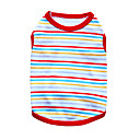 cheap Dog Clothing & Accessories-Cat Dog Shirt / T-Shirt Dog Clothes Stripe Black Orange Red Green Blue Cotton Costume For Pets Men's Women's Fashion