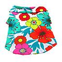 preiswerte Badezimmer Gadgets-Hund T-shirt Hundekleidung Blumen / Pflanzen Regenbogen Baumwolle Kostüm Für Haustiere Herrn Damen Urlaub