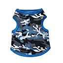 hesapli Köpek Giyim ve Aksesuarları-Kedi Köpek Tişört Köpek Giyimi kamuflaj Siyah Mavi Pamuk Kostüm Evcil hayvanlar için Erkek Kadın's Moda