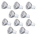 baratos Luminárias de LED  Duplo-Pin-10pçs 3 W 260 lm GU10 / GU5.3 / E26 / E27 Lâmpadas de Foco de LED 3 Contas LED LED de Alta Potência Decorativa Branco Quente / Branco Frio