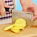 cheap Kitchen Utensils & Gadgets-Potato Wavy Edged Tool Stainless Steel Vegetable Fruit Cutting Cutter
