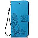 رخيصةأون واقيات شاشات أيفون 6/ 6 بلس-غطاء من أجل Samsung Galaxy Note 5 / Note 4 / Note 3 محفظة / حامل البطاقات / مع حامل غطاء كامل للجسم زهور ناعم جلد PU